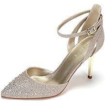 Bodcxe Cerimonia 37 Itscarpe Donna Amazon Oro mnvO8N0w