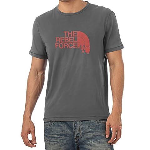 TEXLAB - The Rebel Force - Herren T-Shirt, Größe L, grau (Leia Organa Kostüm)