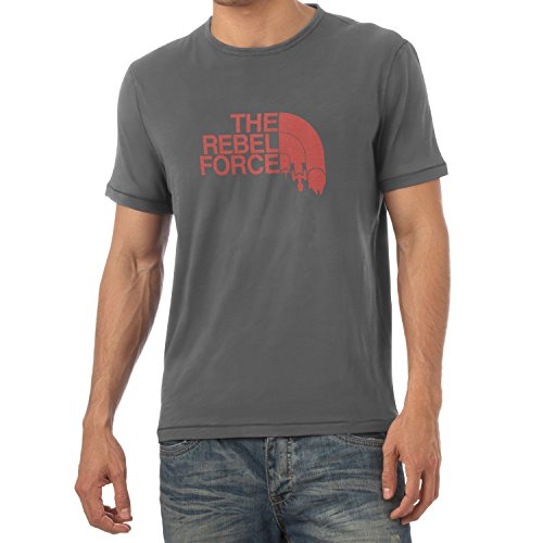 TEXLAB - The Rebel Force - Herren T-Shirt, Größe L, grau