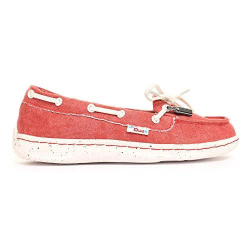 Dude Shoes Moka de chaussures en Toile classique Orange Orange - Mandarine