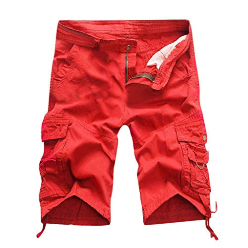 Sommer neue europäische und amerikanische Herren Multi Pocket Casual Plaid Fünf Punkt Shorts Summer multi pocket casual plaid five point shorts Rot grau schwarz 29/30/31/32/34/36/38