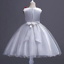 Girls Princess Dress, Sonnena Girls Party Dresses Pageant Bridesmaid Dress Wedding Formal Dress Girls Tutu Tulle Gown Dress Sleeveless Dresses Kids Sundres Easter Day Gift