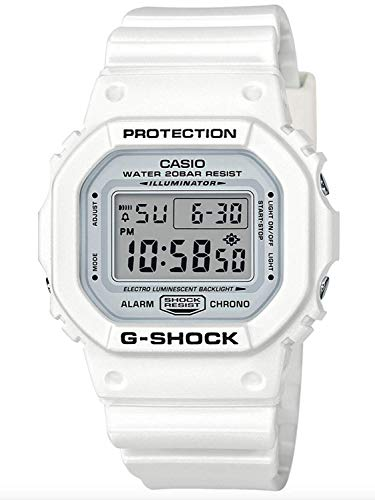 Casio Unisex Digital DW5600MW-7 Japan-Automatic Resin Watch White
