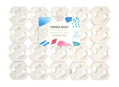 Steckdosenschutz mit Drehmechanik, 20er-Set Steckdosensicherung für Baby und Kinder, MINNA BABY