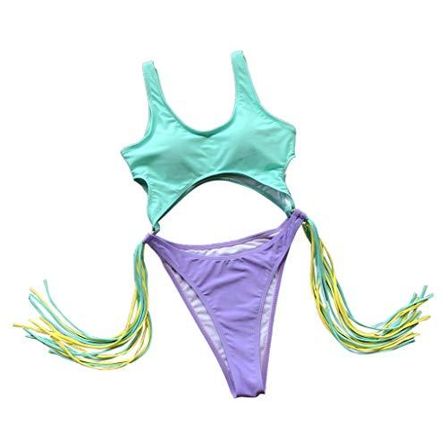 Barbie Kostüm Sexy - Bfmyxg Sexy Swimwear für Damen Lady Fashion Gestreifter Print Badeanzug Badeanzug Push-Up Gepolsterter BH-Overall Badeanzug Bikini Bodys Tankini Beachwear Monokini Sets