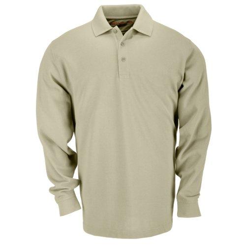 5.11Tactical # 72360Tactical Polo lange Ärmel TShirt, Herren, Silver Tan (Besticktes Tan T-shirt)