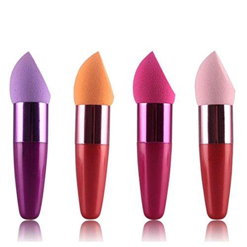 Ensemble de pinceaux de maquillage, Honestyi Femmes Cosmétique Crème Liquide Fondation Concealer Éponge Lollipop Brosse (au hasard)