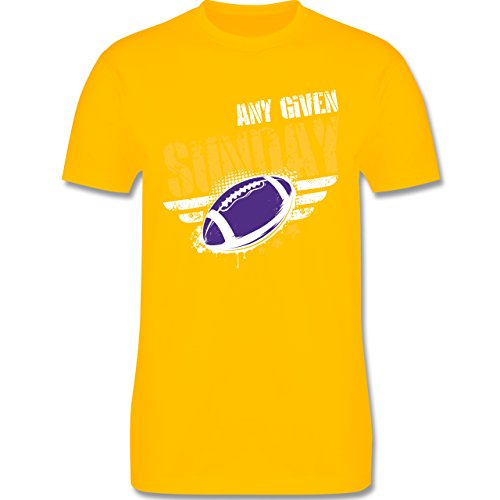Shirtracer American Football - any Given Sunday Football Minnesota - Herren T-Shirt Rundhals Gelb
