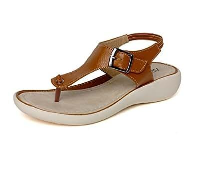 Vendoz Women Tan Sandals - 36 EU