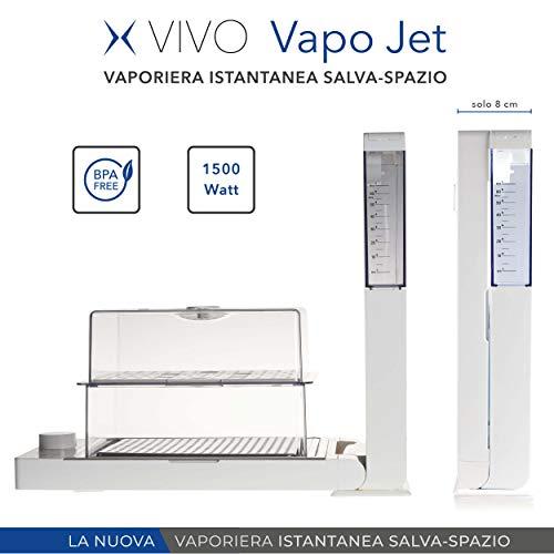VIVO Vapo Jet | Vaporiera Istantanea, Salva Spazio, Vaporiera Elettrica | Cottura al vapore, utile...