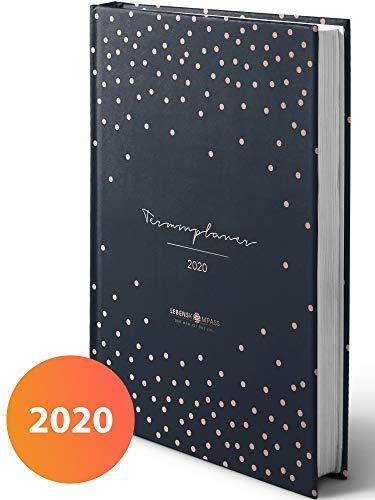 Terminplaner 2020 - Hardcover Wochenplaner mit 2 Lesebändchen - Terminkalender zum Planen, Organisieren und Notieren - Lebenskompass Kalender, Taschenkalender und Planer 2020