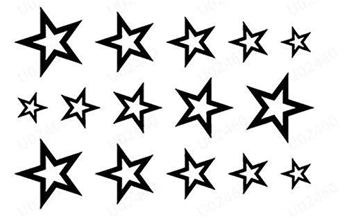 �nfzackigen Stern Tattoo Aufkleber, hohl tätowierung wasserdicht Durable Tattoo Aufkleber, körperkunst, Make-up Party, Foto ()