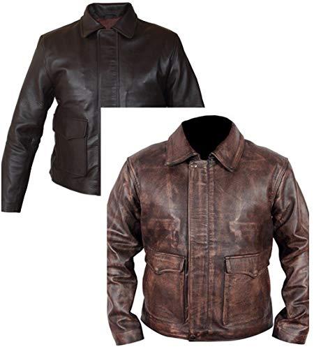 Dunhill Leder Herren, Damen Indiana Jones Harrison Ford Echtes Leder Braun Jacke-s