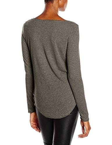 Vero Moda Lua, T-Shirt Femme Gris (Beluga)