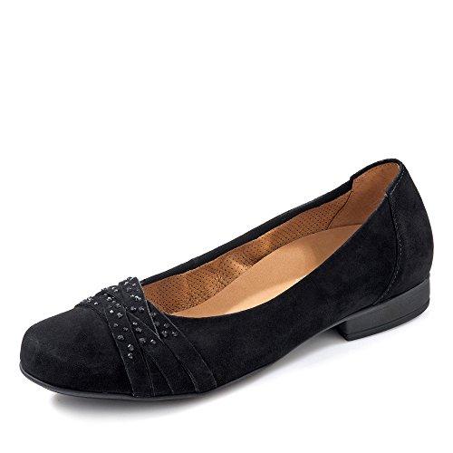GABOR Comfort Damen Ballerina 42.634.47 nero Nero (nero)