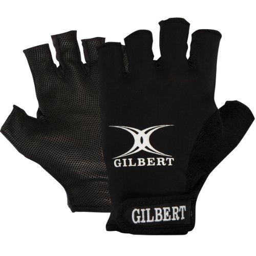 Gilbert Rugby Handschuhe Synergie Schwarz