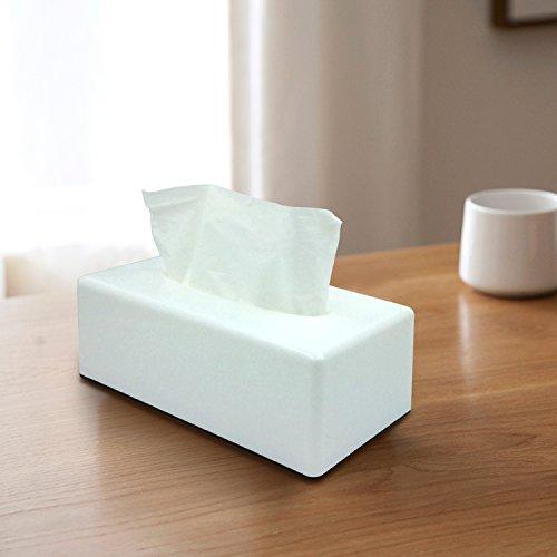 rectangle Boîte à mouchoirs Housse support pour récipient pour salle de bain Vanity Plans de travail pour Kleenex Distributeur de Serviettes Plat (Blanc)…
