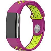Bracelet, Yustar Sport d'activité Accessoires 18mm instruction de rechange Bracelet de montre en silicone pour Fitbit Charge 2