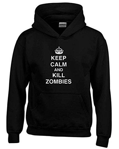 T-Shirtshock - Felpa hoodie bambino TZOM0042 keep calm and kill zombies tshirt, Taglia 9-11anni