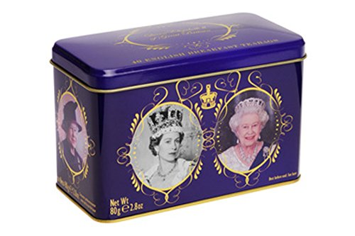 Englisch Tee, English Breakfast Tee in Queen Elizabeth II von Großbritannien Dose