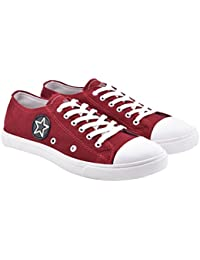 Walk Jump Men Solid Casual Shoes, Star Canvas Shoes, Sneakers For Men
