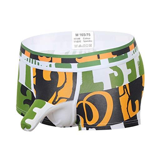 Yng Men Cotton Print-Mann-Unterwäsche Männer Shorts Trunks Unterwäsche Unterhose, E Letters, XXL -
