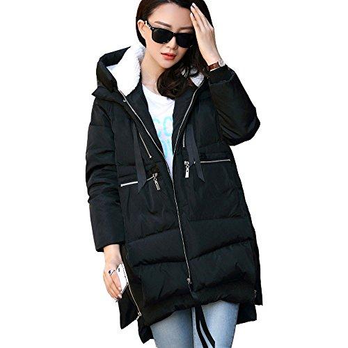Vendita Calda Cappotti Donna Giacche Donna Autunno ElegantiModa Inverno Caldo Donne Lungo di Spessore Imbottito Giù Sciolto Grande N Giù Giacca