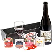 """Ducs de Gascogne - Coffret gourmand """"La Vie en Rouge"""" - comprend 5 produits dont un vin rouge - spécial cadeau (946422)"""