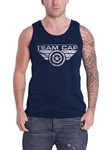 Marvel Captain America Vest Comics Team Cap Shields Logo Official Mens Blue