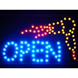 LAMPE NEON ENSEIGNE LUMINEUSE LED led061-b OPEN Hair Cut Salon Dryer LED Neon Sign WhiteBoard