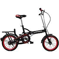 XYANG BK - Bicicleta Plegable de 20 Pulgadas con Marco de Acero de Carbono para Bicicleta