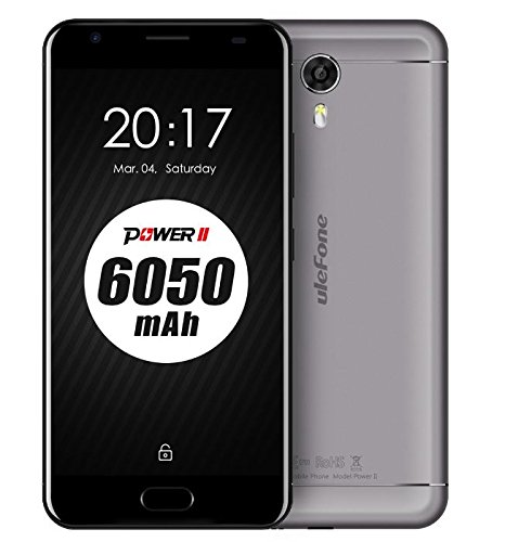 Neueres Modell: Ulefone Power 2 - 6050mAh Akku 5,5 Zoll Android 7.0 Smartphone 4GB RAM 64GB ROM