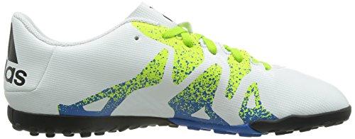 adidas X 15.4 TF, Chaussures de Foot Homme Blanc (Ftwr White/Semi Solar Slime/Core Black)