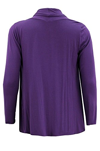 Chocolate Pickle ® Manches longues pour femmes Waterfall Boyfriend Cardigans Baggy Tops 44-54 purple