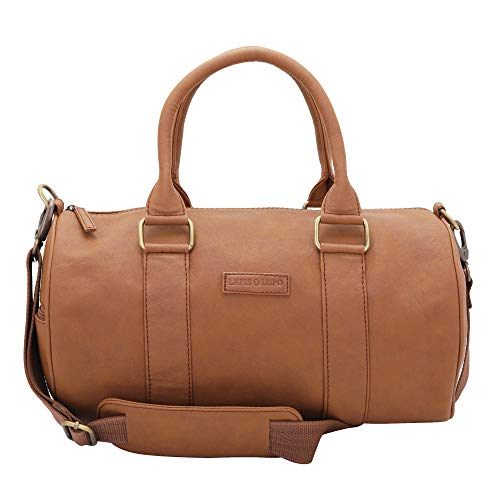 Lapis O Lupo Crush Men's Synthetic Duffle Bag (Tan)