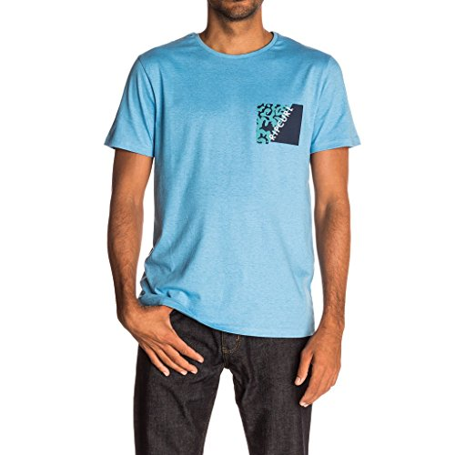 Rip Curl Herren T-Shirt Break Brush Tee azure blue marle