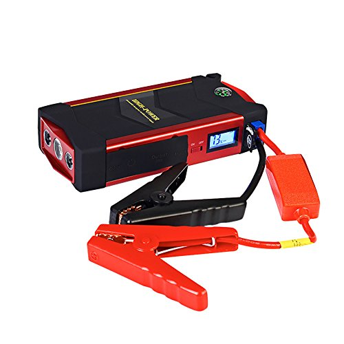 KFZ Jump Starter 600A Peak 18000mAh mit USB Quick Charge (bis zu 6,0l Gas oder 3.0L Diesel-Motor), 12V - Portable Power Pack Auto Akku Booster Handy Ladegerät eingebaute LED-Beleuchtung