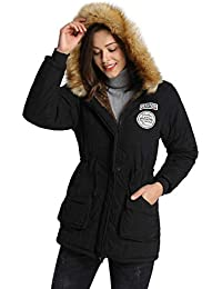 109749da62e iLoveSIA Womens Warm Winter Parkas Coats Faux Fur Lined Overcoats