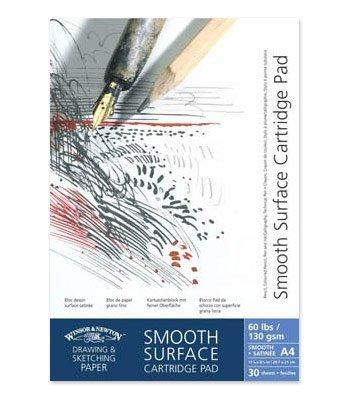 Winsor&Newton - Blocco Carta Satinata, Grana Liscia Incollato - 220 Gr - A5-25 Fogli