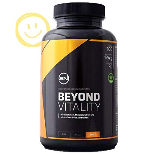 Beyond Vitality für Zellschutz und Wohlbefinden mit 21 natürlichen Antioxidantien, Vitaminen, Mineralstoffen & Spurenelementen - 180 vegane Kapseln, pflanzlich und hochdosiert