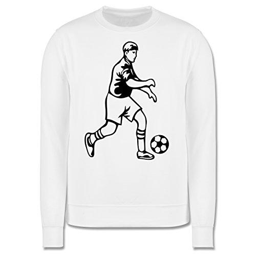Fußball - Fußball - Herren Premium Pullover Weiß