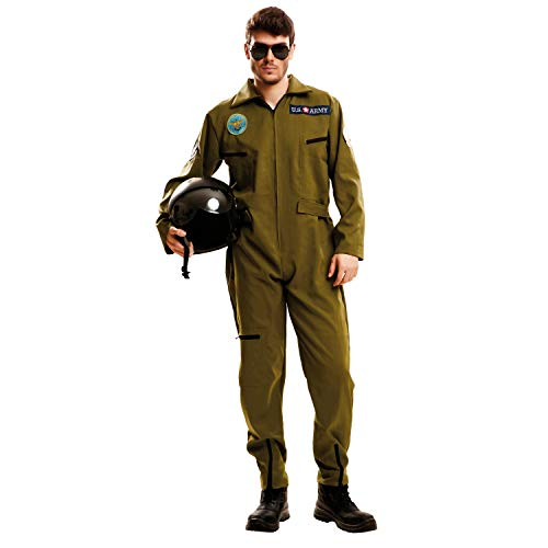 My Other Me Me-202627 Piloto Disfraz Top Gun para hombre, S (Viving Costumes 202627
