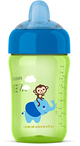 Philips Avent My Sip-n-Click Cup, Green/Blue, 12 Ounce (Natural Philips Trainer Avent)