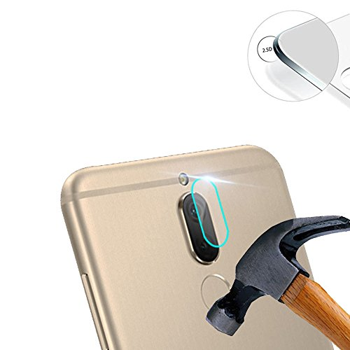2x Pack Displayschutz Ziel Kamera DE DOS von Hartglas für Huawei maimang 6/Rhone/HONOR 9I/Mate 10Lite 5,9Zoll inkl.-Linse, Schutz (Decken nur die Flache Teil)