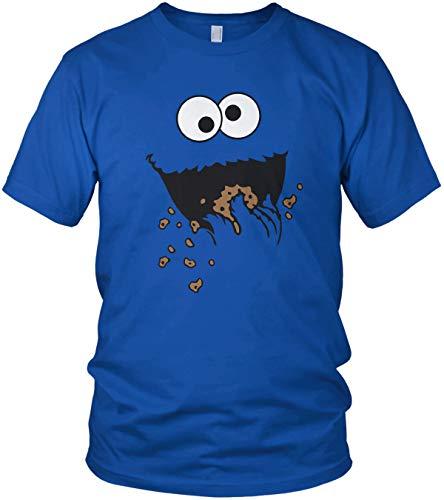 Kostüm Blue Monster - ghostee Herren T-Shirt - Keks-Monster Kostüm, Größe:L, Farbe:Blau