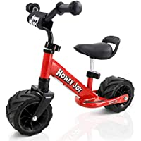 COSTWAY Balance Bike, No Pedal Training Bicycle with Adjustable Handlebar and seat, Toddler Walking Bike with Widen Wheels Suitable for Road Beach for Ages 1 to 3 Years
