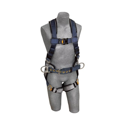 dBi/sala Exofit, 1108507Construction Harness, Back D-Ring, sewn-in Back Pad & Belt W/side d-rings, quick-connect Buckles, extra large, Blue/Gray by Capital Safety