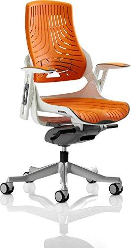 Best Price Dynamic Zure Executive Elastomer Gel Chair with Arms – Orange/Black Online