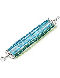 Leonardo Damen- Armband Cascata Edelstahl Glas mehrfarbig 18.5 cm - 015448