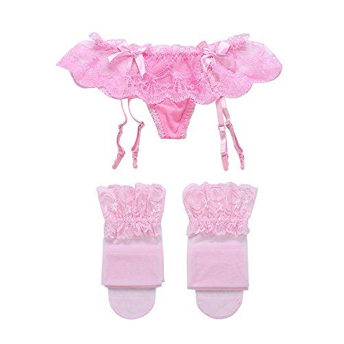 Cszxx Strumpfhalter Damen und Strumpfsets Sexy Lace Strumpfhosen Strapse Test